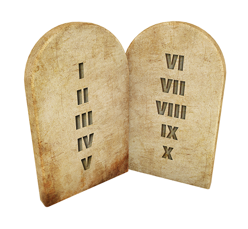 Stone Tablets numbered commandments SMALL
